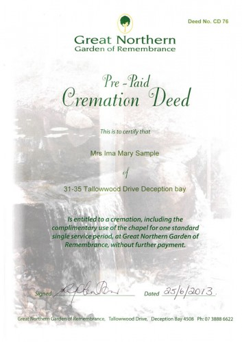 Cremation-Deed